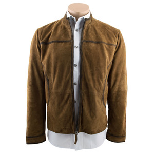 Scully Lamb Suede Jacket - Antique Brown - Front