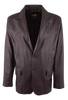 Scully Lambskin and Full-Quill Ostrich Blazer - Black Cherry - Front