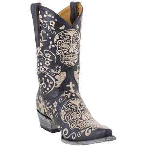 "Old Gringo Ladies ""Klak"" 10"" Boots - Black/Bone"