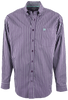 Cinch Purple with Silver Stripes Shirt - Front