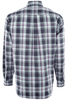 Cinch Navy, White, Aqua and Pink Plaid Shirt - Back