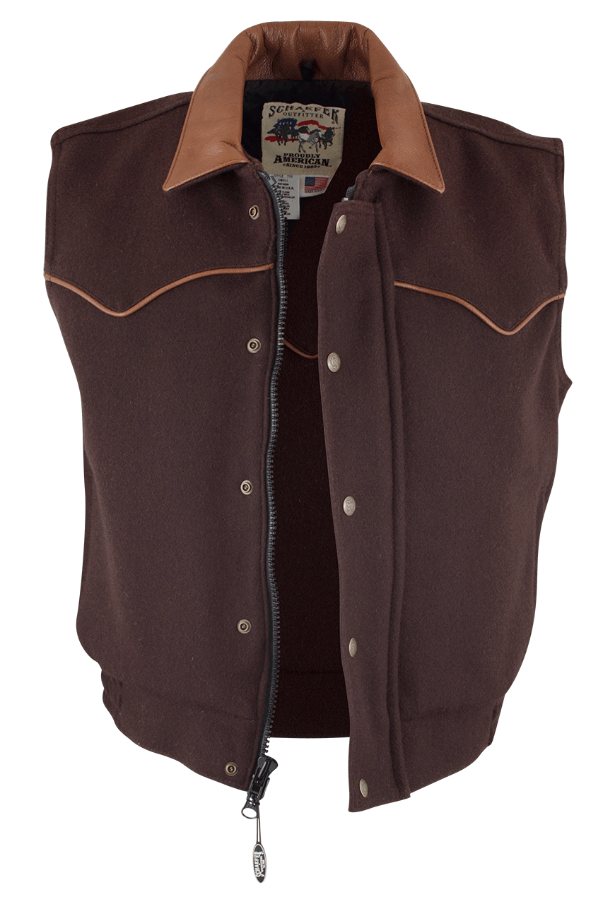 Schaefer Outfitters Competitor Wool Vest Pinto Ranch