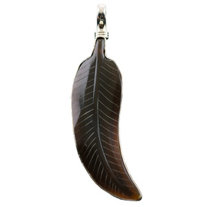 Charm - Small Brown Feather Charm