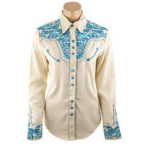 Scully Women's Gunfighter Western Snap Shirt - Turquoise