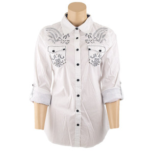Roar Ikat Fight Western Snap Shirt