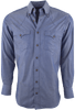 Lyle Lovett for Hamilton Indigo Solid Shirt - Front
