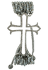 Tuya Jewelry Labradorite and Diamond Cross Bracelet - Front