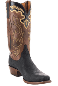 Lucchese Men's Black Elephant Boots - Hero