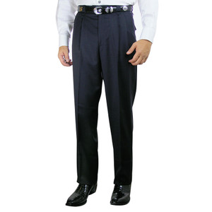 Pleated Western Dress Slacks - Navy