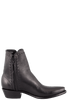 Stallion Men's Zorro Black Argentinian Calf Ankle Boots with Snip Toe - Side