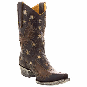 Old Gringo Women's Chocolate Eagle Inlay Star Boots - Hero