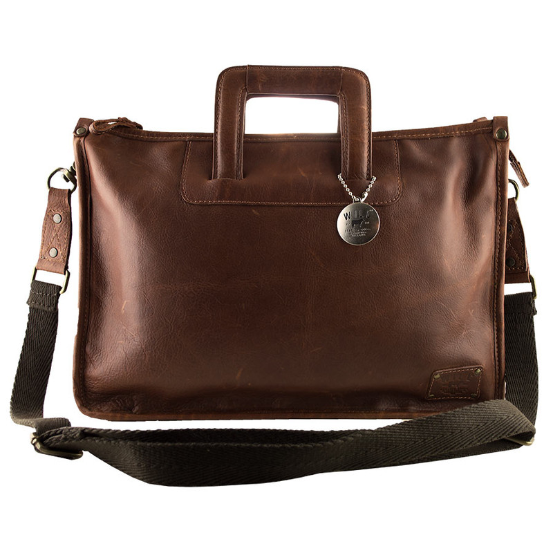 Will Leather Goods Eli Attache Bag - Front