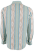 Ryan Michael Ikat Western Snap Shirt - Sky - Back
