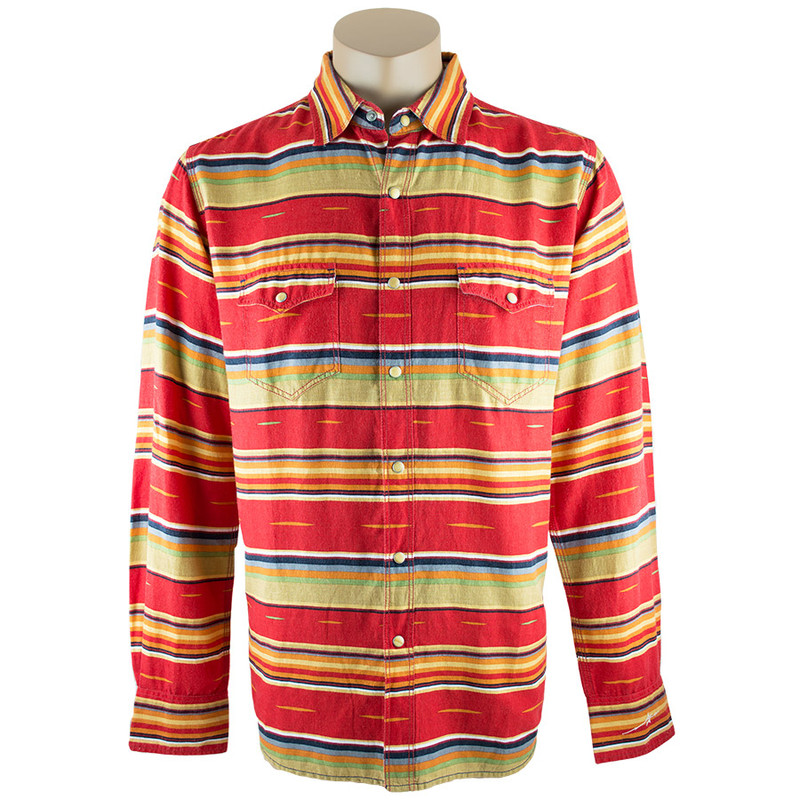 Ryan Michael Serape Stripe Snap Shirt - Front