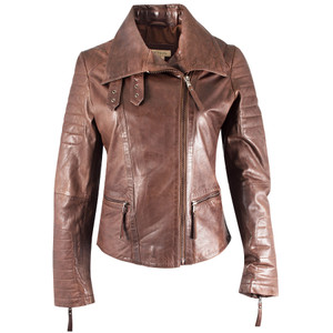 Stetson Lamb Moto Jacket - Brown