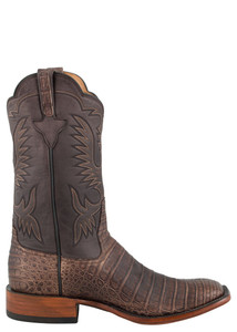 Rios of Mercedes Men's Chocolate Suave Caiman Boots - Side