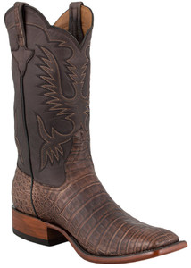 Rios of Mercedes Men's Chocolate Suave Caiman Boots