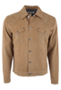 Ryan Michael Suede Denim Jean Jacket - Cork - Front