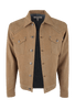 Ryan Michael Suede Denim Jean Jacket - Cork - Hero