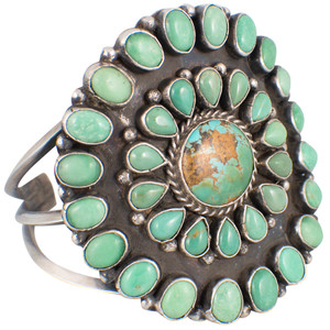 Cuff - Circle of Life Green Turquoise Cuff