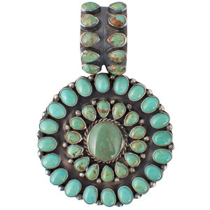 Pendant - Circle of Life Green Turquoise Pendant