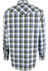 Miller Ranch Blue and Green Plaid Snap Shirt - Back