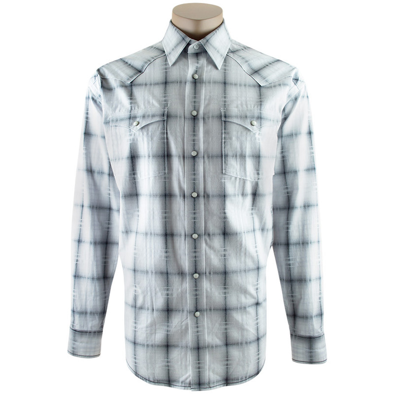 Panhandle Slim Vienna Ombre Plaid Snap Shirt - Front