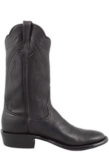 Rios of Mercedes Men's Black Pillow Boots - Side
