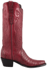 Stallion Women's Wine Caiman Crocodile Triad Boots - Side