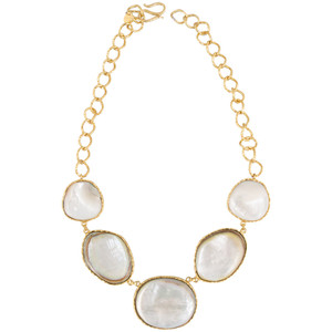 Christina Greene Mother of Pearl Statement Necklace