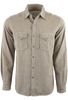 Ryan Michael Teton Text Stripe Shirt - Tan - Front