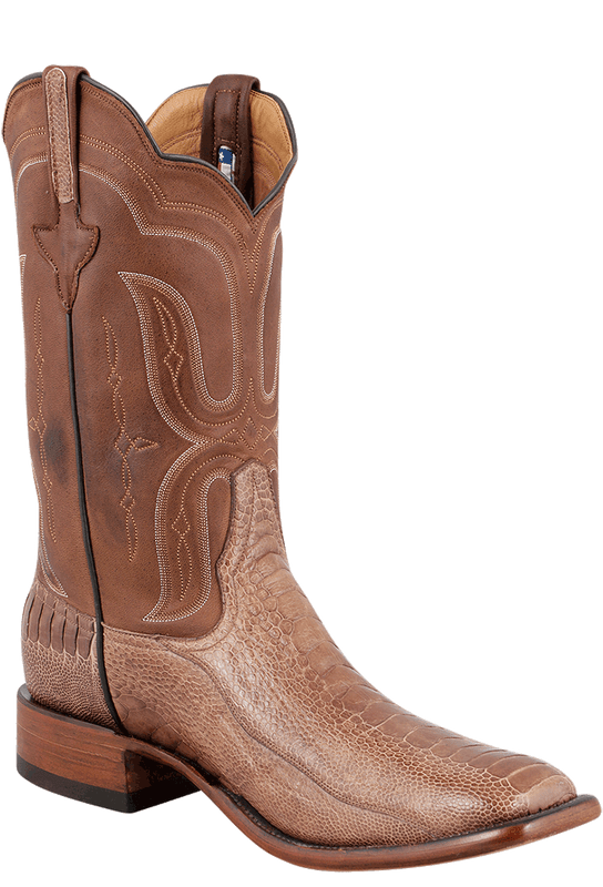 Rios of Mercedes Men's Cigar and Tobacco Ostrich Leg Boots - Hero
