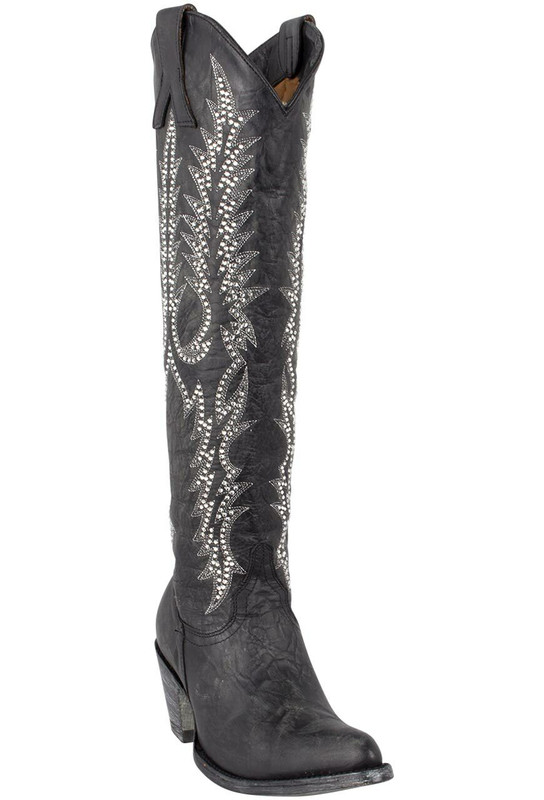 Old Gringo Women's Black Mayra Crystal Vesuvio Boots - Hero