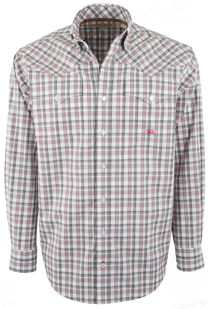 Miller Ranch Gray And Red Check Button Up Shirt Pinto Ranch