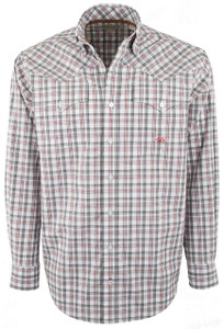Miller Ranch Gray and Red Check Button-Up Shirt - Front