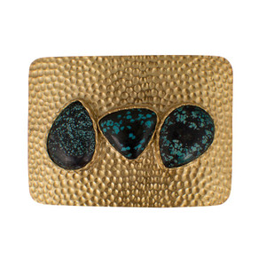 Christina Greene Trophy Buckle with Turquoise