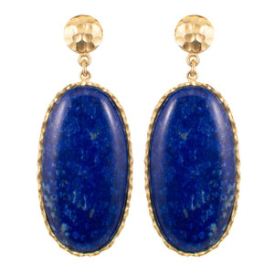 Christina Greene Large Lapis Drop Earrings