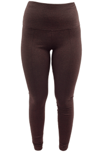 LYSSE CENTER SEAM PONTE LEGGINGS - BROWN- Front