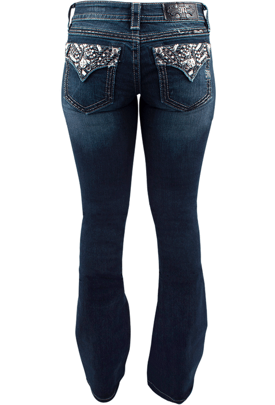 Miss Me Signature Faux Flap Pocket Bootcut Jeans - Back