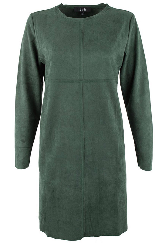 Joh Suede Shift Dress - Green - Front