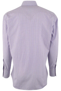 Lyle Lovett for Hamilton Purple with Gold Check Poplin Shirt - Back