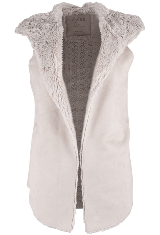 Dylan Silky Sueded Vest with Hood - Front