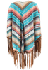 Grand Canyon Shawl - Zuni Blue - Back