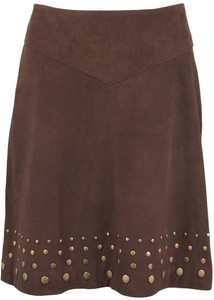 Stetson Lamb Suede Studded Skirt - Back