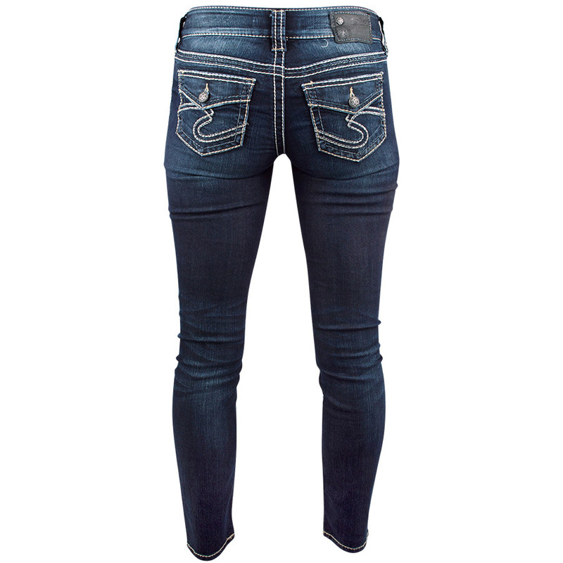 Silver Jeans Suki Skinny Jeans with Flap Pocket - Pinto Ranch