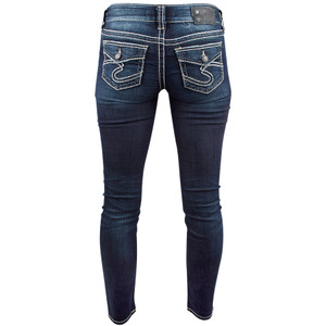 Silver Jeans Suki Skinny Jeans with Flap Pocket - Back