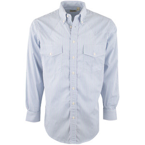 Gitman Bros. Green and Purple Stripe Shirt - Front