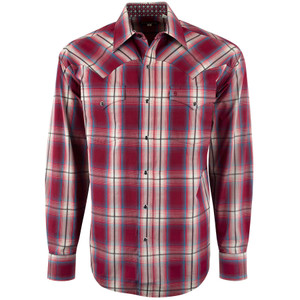 Stetson Hearth Ombre Plaid Snap Shirt - Front