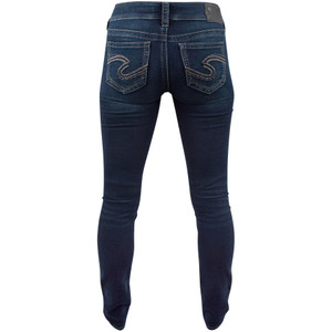 Silver Jeans Suki Mid-Rise Skinny Jeans - Back