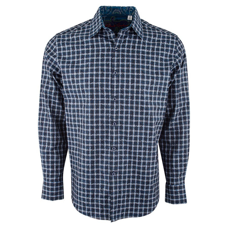 Robert Graham Waterford Basket Gray Check Shirt - Front